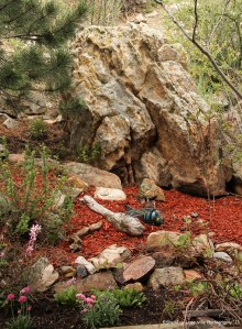 Lichen Covered Boulders, Resting Dragon Flies, Sleeping Cats and a very old Grape Vine