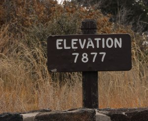 Elevation at Capulin Volcano
