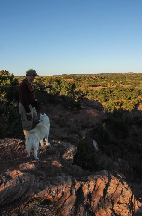 Howard's Best Friend Overlooking Bull Canyon