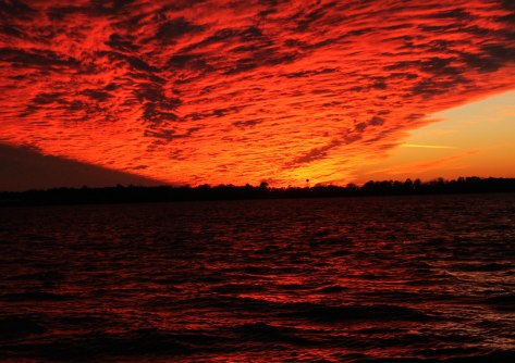 Waves of Fiery Clouds