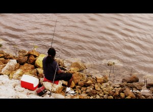 Daydreaming or Fishing (photo stylized)