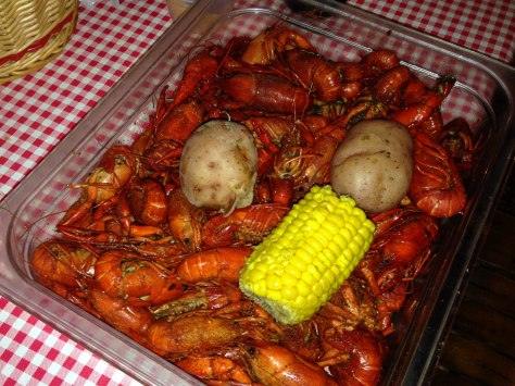 spicy, delicious crawfish