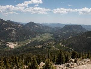 A Haze Day over the Colorado Rockies