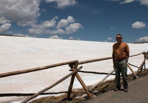 Howard on Trail Ridge Road in Rocky Mountain National Park