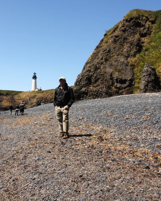 Howard at Yaquina Lighthouse