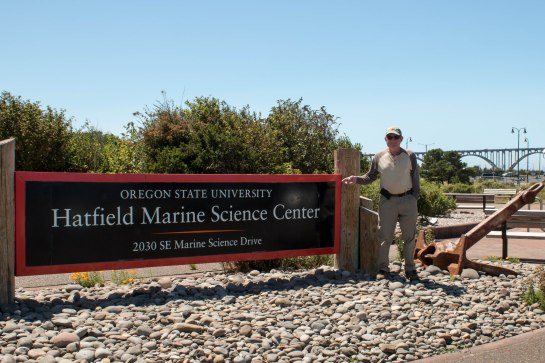 A visit to Hatfield Marine Science Center with my science guy!