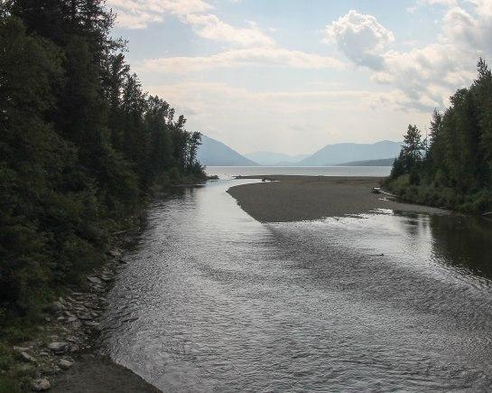 McDonald Creek flowing into McDonald Lake