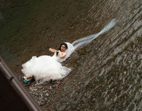 A Bride in a Creek