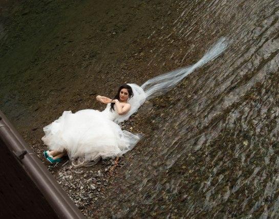 A Bride in a Creek
