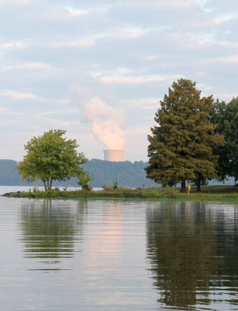 Arkansas Nuclear Plant as seen from Lake Dardanelle State Park
