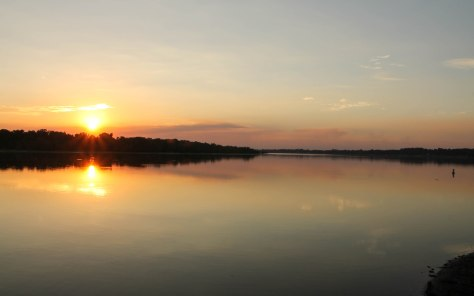 Sunset in Lake Chicot State Park