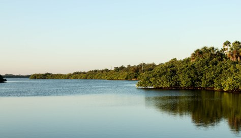 Our view from the canpground, while visiting Fort De Soto County Park