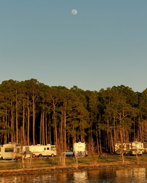 Camped along Mobile Bay