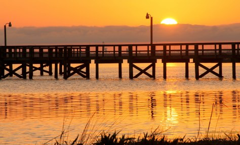 Sunset over Mobile Bay
