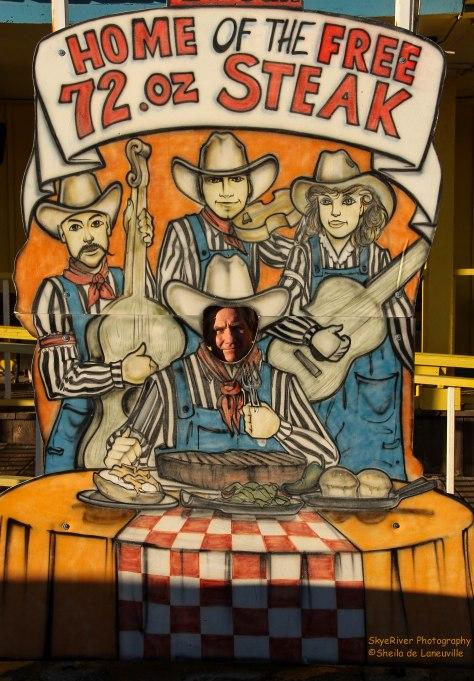 Did this Cowpoke eat a 72oz steak?