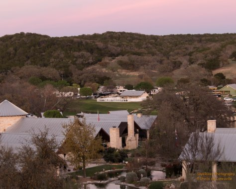 View of the Casita and RV Park from a hill.