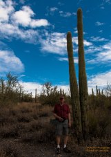 Howard standing by a real Saguaro Cactus